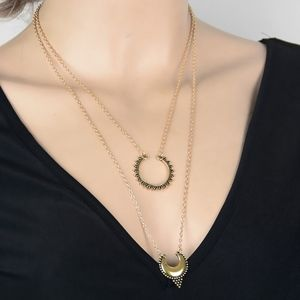3/$20...Double Layered Antique Gold Necklace
